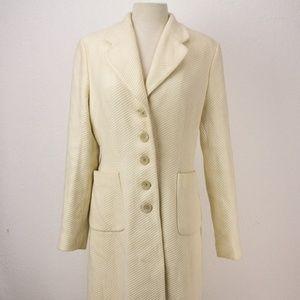 Banana Republic Large Women Long Wool Coat Cream